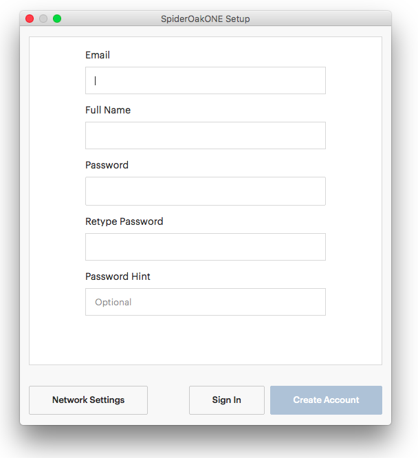 Install ONE and Create an Account – SpiderOak Support